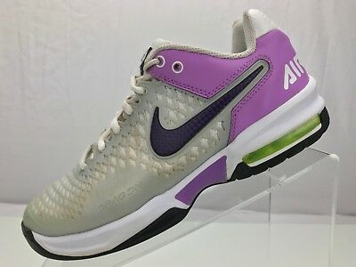 detailed look 88529 dce80 Nike Air Max Cage Breathe Tennis Leather Mesh Sneakers- Women s 7  Purple Silver