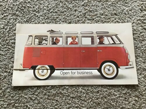 1962 VW station wagon,  original dealership color sales catalogue.