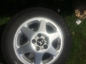 4 mint Alloy wheels and 3 tyres for sale Sunnybank Brisbane South West Preview