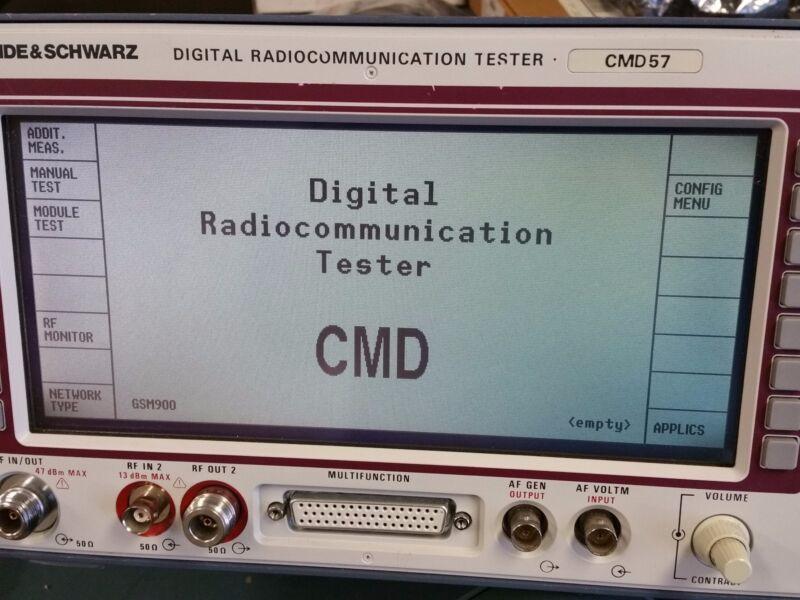 Rohde & Schwarz CMD 57 Digital Communication Tester with Options