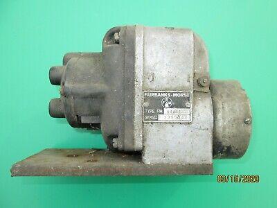 Vintage 4 Cylinder Engine Motor Fairbanks Morse Fm X4a11 Magneto Untested Mag