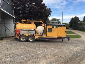 Vacuum excavator trailer