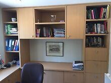 Office desk, credenza and shelving unit North Turramurra Ku-ring-gai Area Preview
