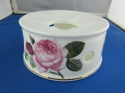 IMPERFECT VERSAILLES TEAPOT WARMER,  MADE ENGLAND ROY KIRKHAM FINE BONE CHINA