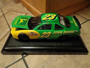 1 18 scale ertl 23 chad little john deere nascar stock car look ebay. Black Bedroom Furniture Sets. Home Design Ideas