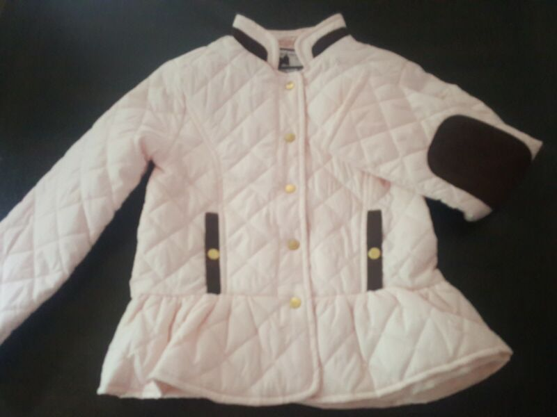 Janie And Jack Pink Quilted Jacket 5 6 VHTF horse patch beautiful RARE