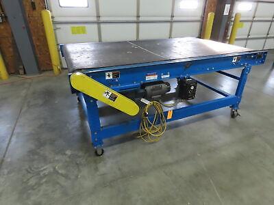 Lewco 8 X 48 Portable Slide Bed Bi-directional Belt Conveyor 120v 100fpm
