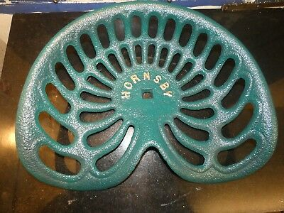 Hornsby Vintage Cast Iron Tractor Implement Seat Farm Collectables Bar Stool