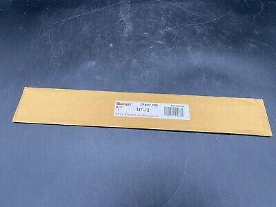 Starrett 387-12 Steel Straight Edge With Bevel And Graduated Edge 12 Long