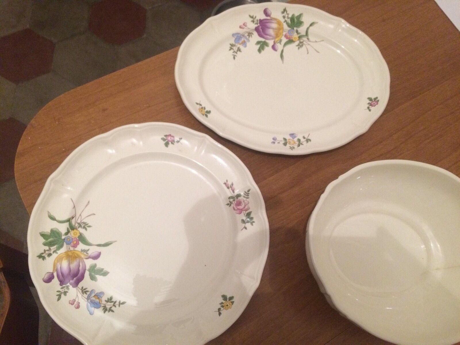 Piatti da portata e ciotola in ceramica Andlovitz Guido per laveno