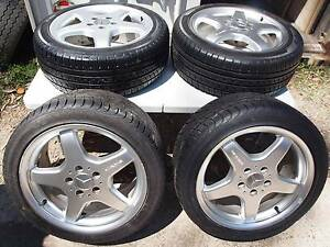 Mercedes AMG Wheels on tyres with wheel nuts 4x. Made in Germany. Mount Gravatt Brisbane South East Preview