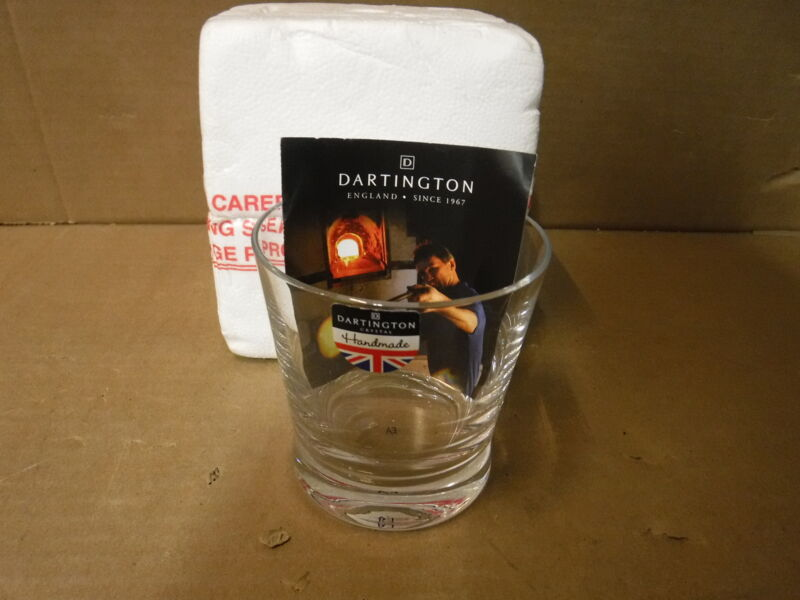 Brand new Dartington handmade Single Dimple Old Fashioned Whiskey Glass