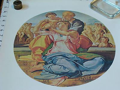Uffizi Gallery - Vintage poster/print: Doni Tondo, Uffizi gallery Florence  16 x 20