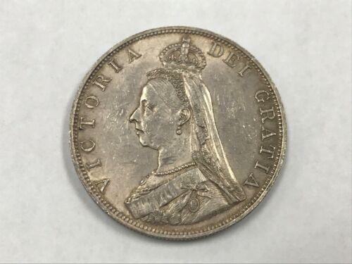 1887 Great Britain Silver Double Florin Toned Au Lustrous Roman 1 KM 763 *Q1K6