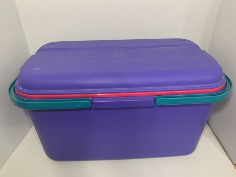 Eagle Craftstor Craft Sewing Tote Storage purple Organizer tray + 2 Containers