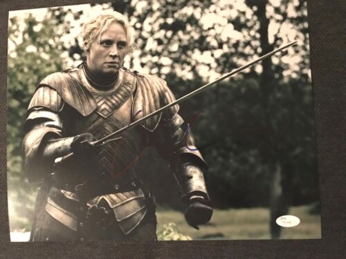 Game of Thrones Gwendoline Christie Autographed Signed 11x14 Photo JSA COA