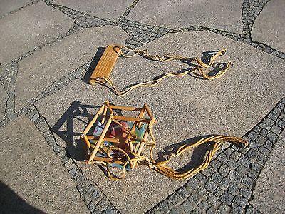 2 Baby-/Kinderschaukeln im Set,Schaukelsitz/Gitterschaukel
