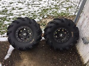 Quad rims and tires for sale