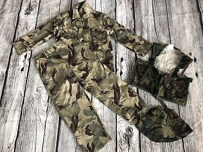 Spirit Delta Force Army Camo Toddler Boys Small 4-6 Complete Set Costume