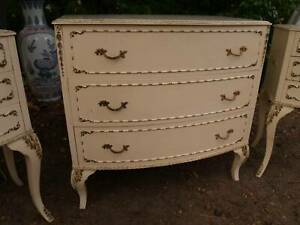 Queen Ann / French Style bedsides  drawers and other antiques Martin Gosnells Area Preview