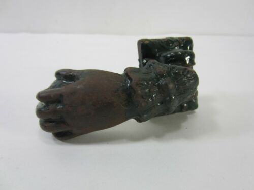 Antique Victorian Hand w/Ball Cast Iron Door Knocker