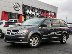 2017 Dodge Caravan Crew leather, power lcoks, reverse camera, na