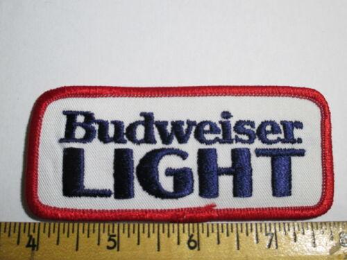 Budweiser Light Beer Vintage Patch Original NOS Embroidered