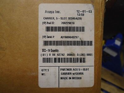 New Avaya Partner Acs 308 509 Processor 5 Slot Carrier W Cover 700229818 103h5a