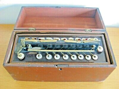 Boxed Antique Flutina Accordian c1831 / 1880 With Mother of Pearl keys Rare Item