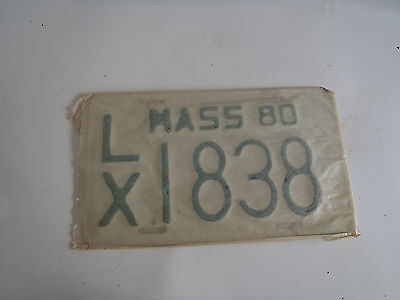 1980 Massachusetts  Motorcycle License Plate Tag LX 1838