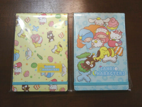 NEW Sanrio Characters Notebook Notepad Bundle Blue & Yellow San-X Hello Kitty D6