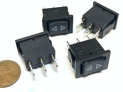 4 Piece Black Rocker Switch Momentary On Off On Spring On Off 3 Pin Spst B27