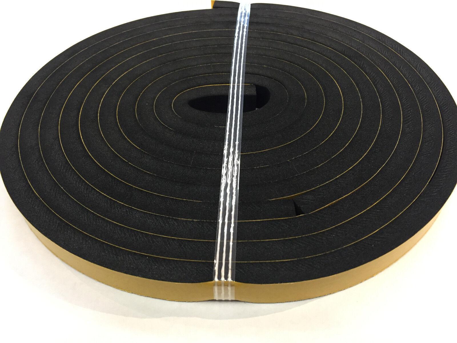 Streifen aus Moosgummi Zellkautschuk EPDM selbstklebend 2m Rolle div.Abmessungen