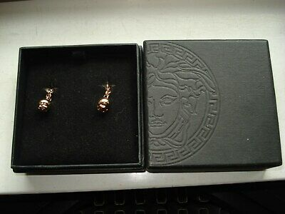 VERSACE GOLD COLOUR MEDUSA CUFFLINKS.