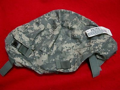 ISSUE  US MILITARY ACU SMALL MEDIUM ACH HELMET COVER W/ NVG FLAP + IR TABS NEW