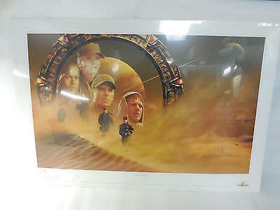 LIMITED EDITION STARGATE SG-1 BEWARE ABYDOS POSTER SIMON THORPE SIGNED #365/1000
