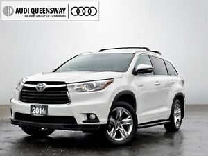 2014 Toyota Highlander Hybrid Limited, No Accidents, Loaded, 7 P