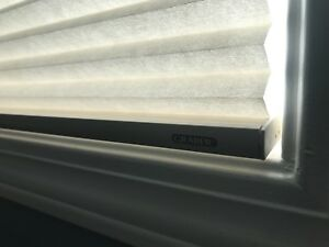 Three new  cordless GRABER light filtering cellular blinds