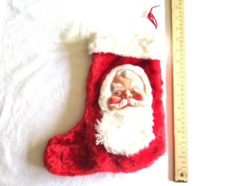 Vintage Bijou Boutique Toys Christmas Tree Stocking Rubber Face Santa Claus Red