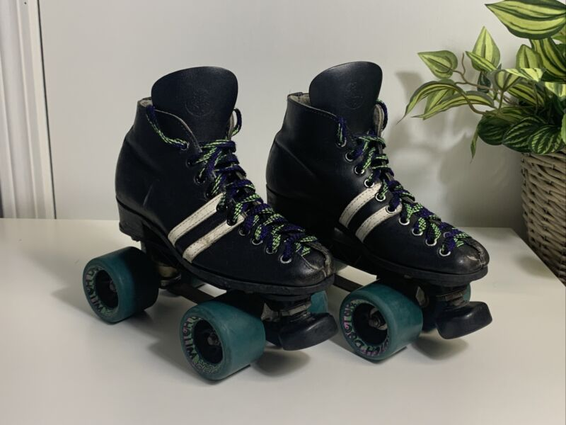 Vintage Riedell Speed Skates. Sunlite 3 Plates. Hyper Witch Doctor Wheels. Read.