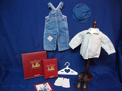 Hobo Outfit (American Girl Kit Hobo Overalls Outfit & Work Boots Lot NEW IN BOX)