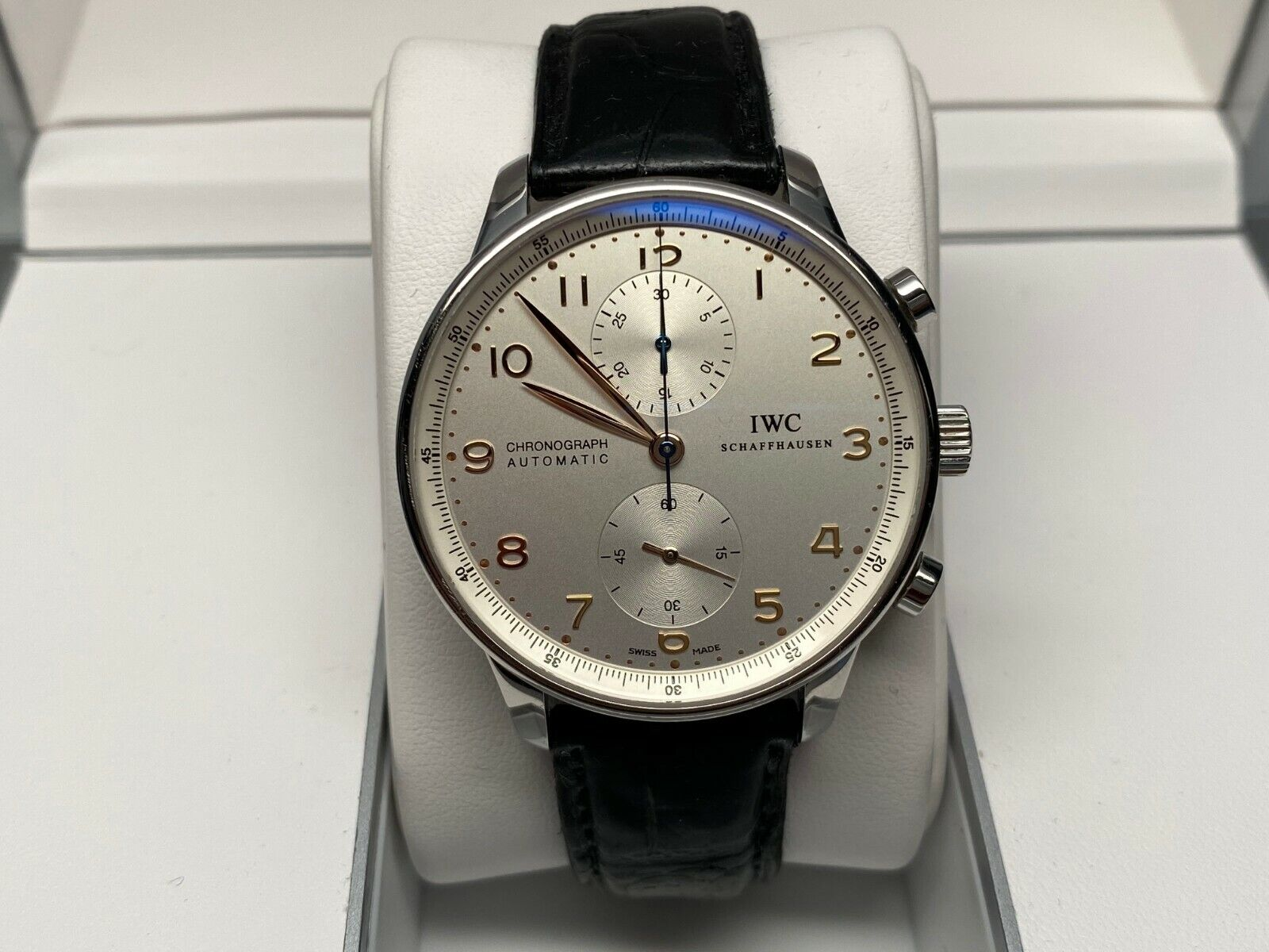 IWC Portuguese Chronograph ref 3714 3714-01 Box & Papers NO RESERVE! - watch picture 1