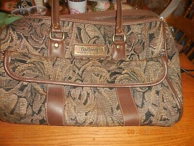 Vintage Large Weekender/ Doctor bag GALLERIA DESIGNED BY PAOLO GUCCI