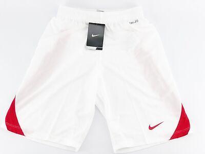 NIKE Kinder Shorts kurze Hose Sporthose Weiß Rot Gr. 140-152