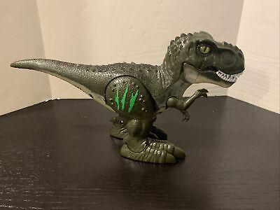 """ZURU Robo Alive T-Rex Green Dinosaur Robotic Pet Walking Roaring Working 12"""" x 7"""