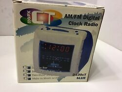 GPX Blue  Alarm Digital Cube Clock Radio - MODEL D530cT - Retro New In Box