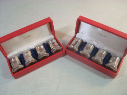 CARTIER Sterling Silver SALT & PEPPER SHAKERS Set of  Boxed NICE*