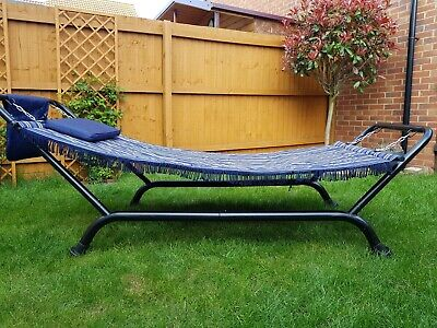 Garden double hammock with stand