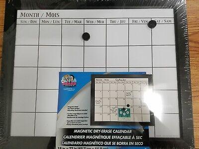 Board Dudes 18 X 22 Inch Magnetic Dry Erase Calendar Englishfrench