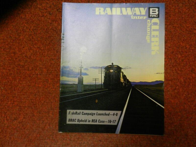 Railway Clerk Interchange  Magazine March, 1974